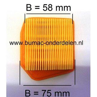 Luchtfilter STIHL FS240C - FS240RC - FS260C - FS260RC - FS360C - FS410C - FS460C - FS460RC, Bosmaaier - Bermmaaier - Strimmer - Trimmer