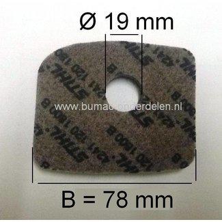 Luchtfilter STIHL BG56 - BG56C - BG66 - BG66C - BG86 - BG86C - SH86 - SH86C - BR200, Bladblazer - Blad Blazer / Zuiger Combinatie
