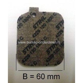 Luchtfilter STIHL BG45 - BG46 - BG55 - BG65 - BG85 - BR45C - SH55 - SH85, (Ruggedragen) Bladblazer - Bladzuiger - Blad Blazer / Zuiger Combinatie