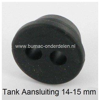 Doorvoerrubber Mc Culloch voor Tankaansluiting 14-15 mm en Benzineslang 2,5x5 mm komt onder andere voor op Mcculloch SD3100 en SD4100