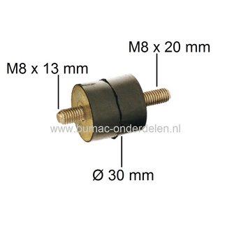 Vibratie Demper AS-MOTOR AS 21-165 - AS 26-AH8 - AS 53 B2 - AS 53 B1 - AS 53 B1R, Bermmaaier - Ruwterreinmaaier - Grasmaaier, Trillingsdemper - Anti Vibratie Rubber - Ophangrubber - Schok Demper