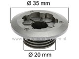 Wormwiel voor CASTELGARDEN - STIGA - ALPINA - MOUNTFIELD Kettingzaag, Worm wiel voor Aandrijving van de Oliepomp bij Motorzaag