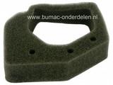 Luchtfilter voor HONDA GX25 en GX35 Motoren op Bosmaaier - Bermmaaier - Strimmer, Lucht Filters van Schuim, Spons