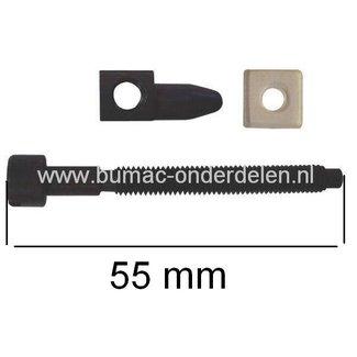 Kettingspanner voor Husqvarna 51 - 61 - 66 - 162 - 181 - 266 - 272 - 281 - 288, Motorzaag, Kettingzaag, Spanvijs, Jonsered.