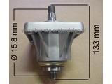 Rechter Mesas 133 mm met Lagerhuis en lagers Compleet voor MTD - Yardman - Wolf - Cub Cadet - White en Bolens Zitmaaier