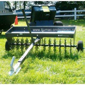 Gras beluchter, Prikrol, Rolbeluchter, Prikroller, Gazonbeluchter voor Zitmaaier - Quad - Frontmaaier of Trekker met Stermessen