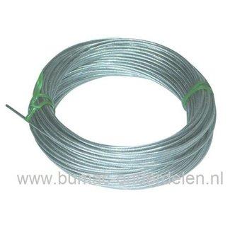 Binnenkabel Ø 3 mm Flexibel op rol van 25 Mtr voor het maken van Koppelingskabel - Versnellingskabel - Gaskabel voor Zitmaaier, Frontmaaier - Grasmaaier - Tuinfrees - Trilplaat - Trekker - Verticuteermachine