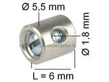 Schroefton voor Kabel T/m Ø 1,8 mm Geleverd per 4 Stuks voor Remkabel - Gaskabel - Koppelingskabel - Chokekabel - Motorremkabel - Stuurkabel op Grasmaaier - Zitmaaier - Frontmaaier - Brommer - Quad - Minikraan - Shovel - Scooter