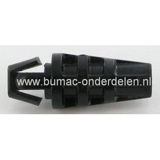 Aansluitnippel voor Buitenkabels T/m Ø 6 mm Veel Voorkomend op Grasmaaiers met Motorremkabel - Koppelingskabel Kunstof Houder voor Kabel