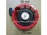Starter voor Honda GX340, GXV270, GXV340, GXV390, EB4500X, EG4500X, EG5000X, EM4500SX, EM4500X, EM5000SX, EM5000X, EW171, GXV270K1, GXV340K1 Honda Motoren op Kooimaaier, Bobcat,  Verticuteermachine, Ontmosser, Bladzuiger, Trilplaat, Tuinfrees, Generatoren