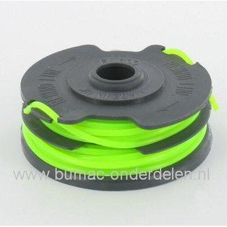 Draadcassette voor Flymo Modellen, Onderdeel voor Electrische Trimmer, Nylon Maaidraad 2 mm, Strimmer, Onkruid Trimmer, Graskant snijder, Draadspoelen, Bosmaaier, Grastrimmer