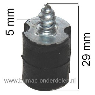 Trillingdemper voor Husqvarna 44 - 61 - 66 - 266 - 444 - 480, Motorzaag, Kettingzaag, Vibratiedemper, Trillingsdemper, Ophangrubber