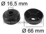 Steunwiel voor Stiga Villa 85 Frontmaaier, Zitmaaier Buitendiameter Ø 66 mm, Binnendiameter 16,5 mm Naaflengte 29,5 mm
