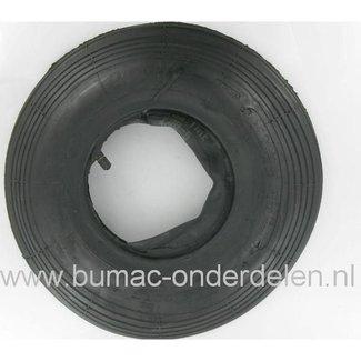 Buitenband met Binnenband voor Aanhanger - Kruiwagen - Kunstmeststrooier - Skelter - Beluchter - Sproeiwagen, Aanhangerband 4.00-6, 4,00-6, 400x6 met Recht Ventiel TR13
