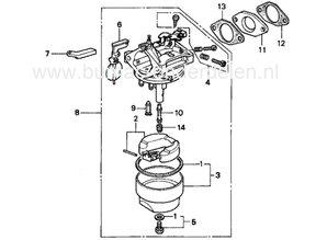 Vlotternaald voor Honda Carburateur op G100, G150, G200, G300, GV150, GV200, Honda Afdichtings Naald voor Carburator G 100, G 150, G 200, G 300, GV 150, GV 200