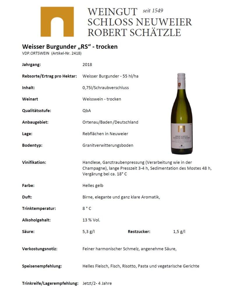 "Schloss Neuweier Weisser Burgunder ""RS"" Trocken - VDP. Ortswein"