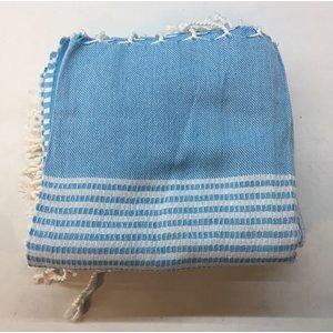 MyHamam hamamdoek Kemer-style (bamboe) Lichtblauw