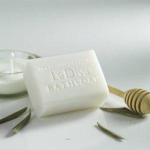 LaDiva geitenmelk en honing badzeep 155gr. luxe verpakking