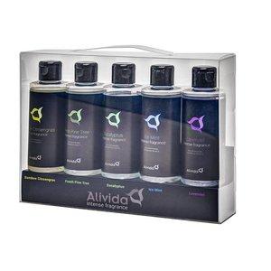 Alivida Intense Fragrance. Sauna-opgiet, douche en stoombad aroma set 5x100ml