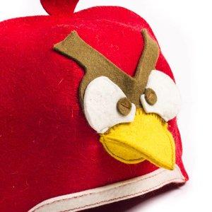 """AVDS sauna muts """"Angry bird"""" wolvilt A-162 sauna vilten hoed"""