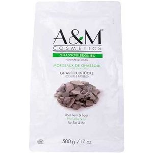 A&M Cosmetics Ghassoul brokjes. zak 250gram