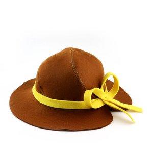 "AVDS saunamuts ""Lady"" hoed met rand en strik wol vilt A-252"
