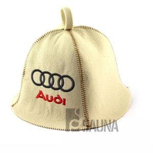 "AVDS saunamuts ""Automotive"" met logo geborduurd polyester vilt A-231"