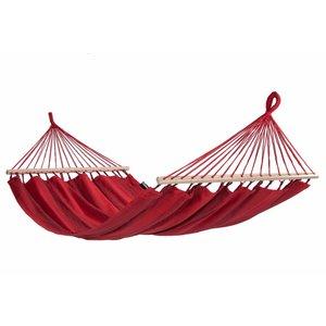 Tropilex Hangmat Hammock 'Relax' Red / rood. 1p  Traditioneel model.