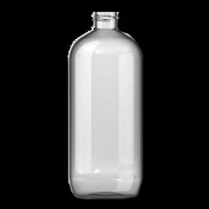 Verpakking/fles/pot Lege fles 1000ml Pet met flipdop