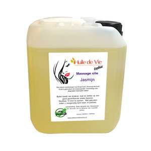 Huile de Vie Massage olie jasmijn jerrycan. afspoelbaar