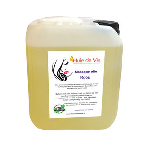 Huile de Vie Massage olie Roos jerrycan. afspoelbaar
