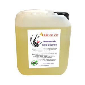 Huile de Vie Massage olie 1000 bloemen jerrycan. afspoelbaar