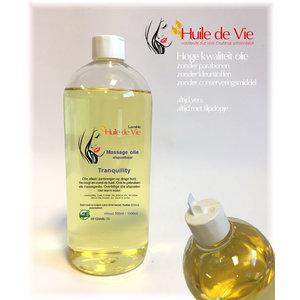 Huile de Vie Massage olie tranquility. afspoelbaar