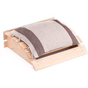 Emendo sauna hoofdsteun met kussentje