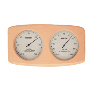 Harvia sauna thermometer / hygrometer blank hout dubbel