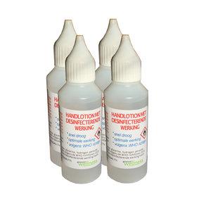 Gewoon Wellness Handen desinfectie set voor thuis, op het werk en onderweg. 4x50ml
