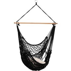 Tropilex Hangstoel Eénpersoons 'Rope' Black - Zwart