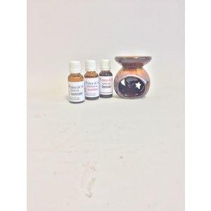 Wellnesskadoos Moederdag Geurbrander en 3 geuren 20ml Wellnesspakket