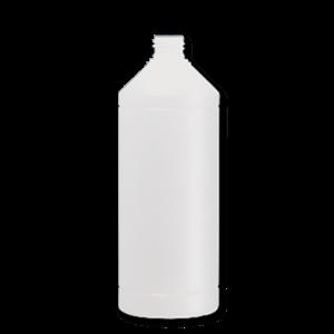 Verpakking/fles/pot FLES 1 LTR HDPE WIT 28-410
