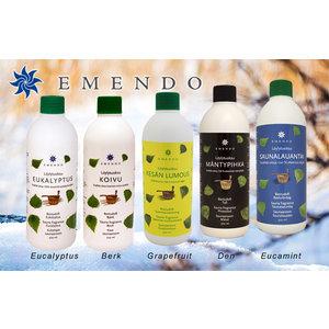 Emendo Sauna opgiet set fris 5 x 500ml Eucalyptus, Berk, Grapefruit, Den, Eucamint
