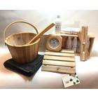 Emendo saunaset  cadeau set compleet blank hout