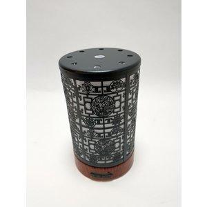 """Ti-Zen Aroma Diffuser 2021 """"Black Art Deco"""" LED diffuser en sfeerverlichting met adapter."""