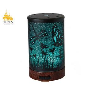 """Ti-Zen Aroma Diffuser 2021 """"Dragon- and Butterflies"""" LED diffuser en sfeerverlichting met adapter."""