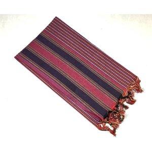 """MyHamam Hamamdoek """"Keshan"""" Violet kleurrijke strepen"""