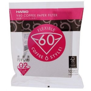 Hario V60 Filters 02 White - VCF-02 (100 Pieces)