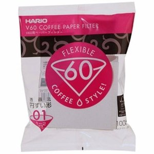 Hario V60 Filters 01 White (100 Pieces)