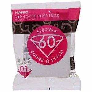 Hario V60 Filters 01 Wit (100 Stuks)