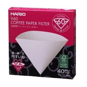 Hario V60 Filters 02 Wit (40 Stuks)