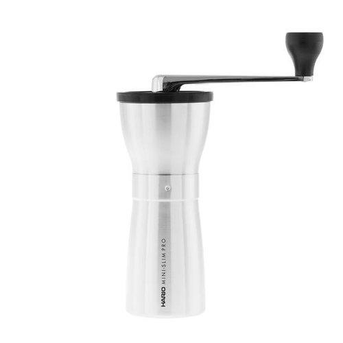 Hario Ceramic Coffee Mill Mini-Slim PRO (Silver) - MMSP-1-HSV