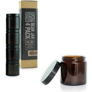 Comandante Comandante Bean Jar - Bruin Glas - 4 Pack
